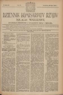 Dziennik Komisarjatu Rządu na M. St. Warszawę.R.3, № 160 (20 lipca 1922) = № 492