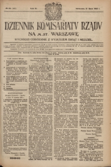 Dziennik Komisarjatu Rządu na M. St. Warszawę.R.3, № 161 (21 lipca 1922) = № 493