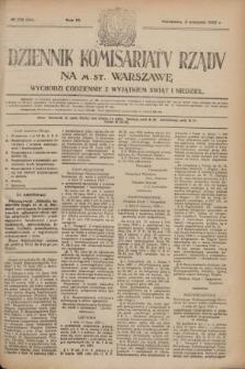 Dziennik Komisarjatu Rządu na M. St. Warszawę.R.3, № 172 (3 sierpnia 1922) = № 504