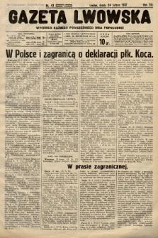 Gazeta Lwowska. 1937, nr43