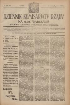 Dziennik Komisarjatu Rządu na M. St. Warszawę.R.3, № 275 (5 grudnia 1922) = № 607