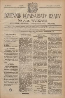 Dziennik Komisarjatu Rządu na M. St. Warszawę.R.3, № 284 (16 grudnia 1922) = № 616
