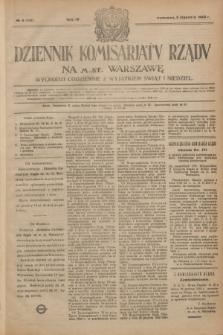 Dziennik Komisarjatu Rządu na M. St. Warszawę.R.4, № 4 (5 stycznia 1923) = № 629