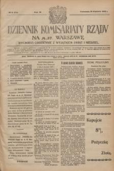 Dziennik Komisarjatu Rządu na M. St. Warszawę.R.4, № 9 (12 stycznia 1923) = № 634