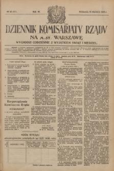Dziennik Komisarjatu Rządu na M. St. Warszawę.R.4, № 12 (16 stycznia 1923) = № 637