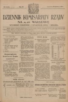Dziennik Komisarjatu Rządu na M. St. Warszawę.R.4, № 14 (18 stycznia 1923) = № 639