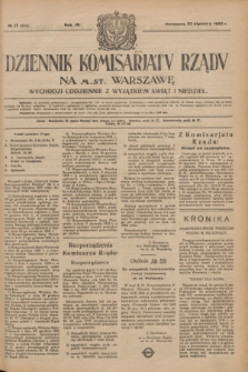 Dziennik Komisarjatu Rządu na M. St. Warszawę.R.4, № 17 (22 stycznia 1923) = № 642