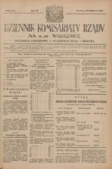 Dziennik Komisarjatu Rządu na M. St. Warszawę.R.4, № 18 (23 stycznia 1923) = № 643