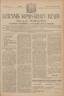Dziennik Komisarjatu Rządu na M. St. Warszawę.R.4, № 27 (3 lutego 1923) = № 652