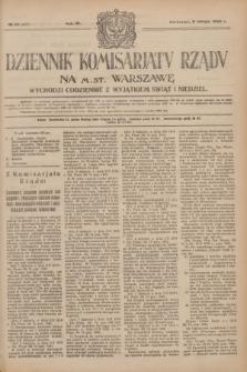 Dziennik Komisarjatu Rządu na M. St. Warszawę.R.4, № 32 (9 lutego 1923) = № 657