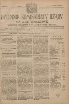 Dziennik Komisarjatu Rządu na M. St. Warszawę.R.4, № 33 (10 lutego 1923) = № 658