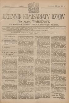 Dziennik Komisarjatu Rządu na M. St. Warszawę.R.4, № 38 (16 lutego 1923) = № 663