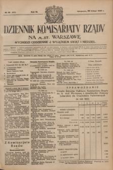 Dziennik Komisarjatu Rządu na M. St. Warszawę.R.4, № 48 (28 lutego 1923) = № 673