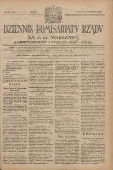 Dziennik Komisarjatu Rządu na M. St. Warszawę.R.4, № 56 (9 marca 1923) = № 681