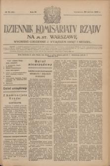 Dziennik Komisarjatu Rządu na M. St. Warszawę.R.4, № 73 (29 marca 1923) = № 698