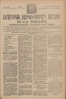 Dziennik Komisarjatu Rządu na M. St. Warszawę.R.4, № 74 (3 kwietnia 1923) = № 699
