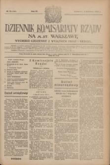 Dziennik Komisarjatu Rządu na M. St. Warszawę.R.4, № 75 (4 kwietnia 1923) = № 700