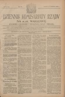 Dziennik Komisarjatu Rządu na M. St. Warszawę.R.4, № 78 (7 kwietnia 1923) = № 703