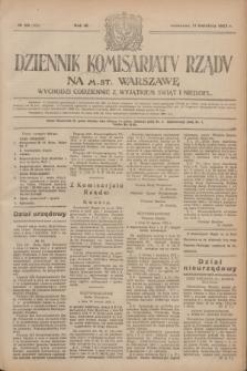 Dziennik Komisarjatu Rządu na M. St. Warszawę.R.4, № 80 (11 kwietnia 1923) = № 705