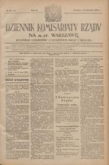Dziennik Komisarjatu Rządu na M. St. Warszawę.R.4, № 82 (13 kwietnia 1923) = № 707