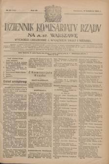 Dziennik Komisarjatu Rządu na M. St. Warszawę.R.4, № 85 (17 kwietnia 1923) = № 710