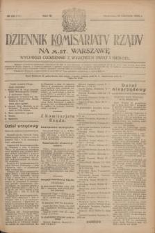 Dziennik Komisarjatu Rządu na M. St. Warszawę.R.4, № 86 (18 kwietnia 1923) = № 711