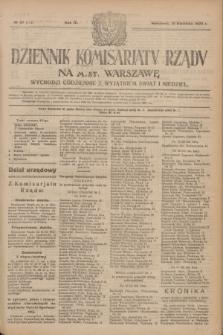 Dziennik Komisarjatu Rządu na M. St. Warszawę.R.4, № 87 (19 kwietnia 1923) = № 712