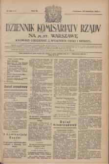 Dziennik Komisarjatu Rządu na M. St. Warszawę.R.4, № 88 (20 kwietnia 1923) = № 713