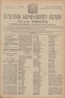 Dziennik Komisarjatu Rządu na M. St. Warszawę.R.4, № 89 (21 kwietnia 1923) = № 714