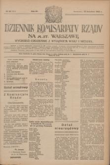 Dziennik Komisarjatu Rządu na M. St. Warszawę.R.4, № 96 (30 kwietnia 1923) = № 721