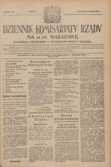 Dziennik Komisarjatu Rządu na M. St. Warszawę.R.4, № 110 (19 maja 1923) = № 735