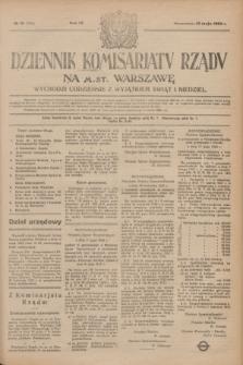Dziennik Komisarjatu Rządu na M. St. Warszawę.R.4, № 111 (22 maja 1923) = № 736
