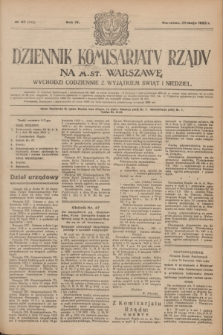 Dziennik Komisarjatu Rządu na M. St. Warszawę.R.4, № 117 (29 maja 1923) = № 742