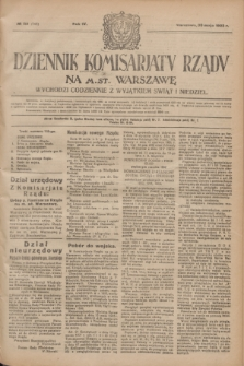 Dziennik Komisarjatu Rządu na M. St. Warszawę.R.4, № 118 (30 maja 1923) = № 743