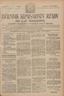 Dziennik Komisarjatu Rządu na M. St. Warszawę.R.4, № 120 (2 czerwca 1923) = № 744