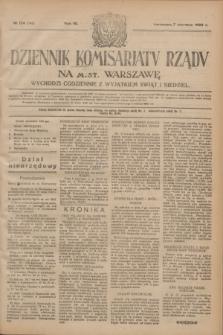 Dziennik Komisarjatu Rządu na M. St. Warszawę.R.4, № 124 (7 czerwca 1923) = № 748