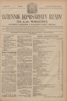 Dziennik Komisarjatu Rządu na M. St. Warszawę.R.4, № 126 (9 czerwca 1923) = № 750