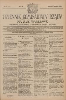 Dziennik Komisarjatu Rządu na M. St. Warszawę.R.4, № 148 (6 lipca 1923) = № 772