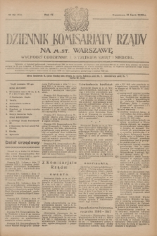 Dziennik Komisarjatu Rządu na M. St. Warszawę.R.4, № 151 (10 lipca 1923) = № 774