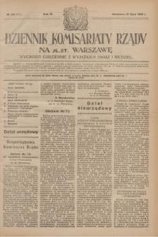 Dziennik Komisarjatu Rządu na M. St. Warszawę.R.4, № 153 (12 lipca 1923) = № 777