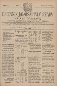 Dziennik Komisarjatu Rządu na M. St. Warszawę.R.4, № 154 (13 lipca 1923) = № 778