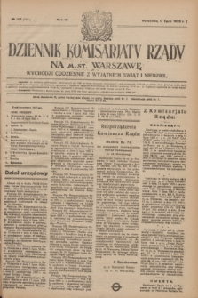 Dziennik Komisarjatu Rządu na M. St. Warszawę.R.4, № 157 (17 lipca 1923) = № 781