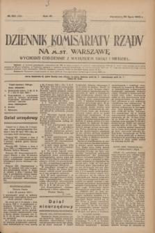 Dziennik Komisarjatu Rządu na M. St. Warszawę.R.4, № 165 (26 lipca 1923) = № 789