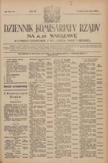 Dziennik Komisarjatu Rządu na M. St. Warszawę.R.4, № 166 (27 lipca 1923) = № 790
