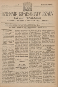 Dziennik Komisarjatu Rządu na M. St. Warszawę.R.4, № 169 (31 lipca 1923) = № 793