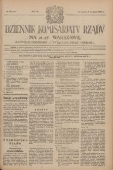 Dziennik Komisarjatu Rządu na M. St. Warszawę.R.4, № 171 (2 sierpnia 1923) = № 795