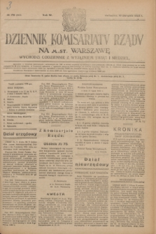 Dziennik Komisarjatu Rządu na M. St. Warszawę.R.4, № 178 (10 sierpnia 1923) = № 802
