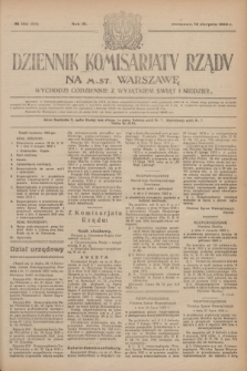 Dziennik Komisarjatu Rządu na M. St. Warszawę.R.4, № 182 (16 sierpnia 1923) = № 806