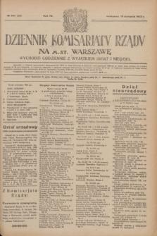 Dziennik Komisarjatu Rządu na M. St. Warszawę.R.4, № 184 (18 sierpnia 1923) = № 808