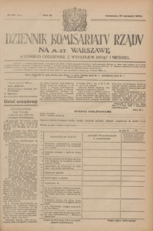 Dziennik Komisarjatu Rządu na M. St. Warszawę.R.4, № 187 (22 sierpnia 1923) = № 811